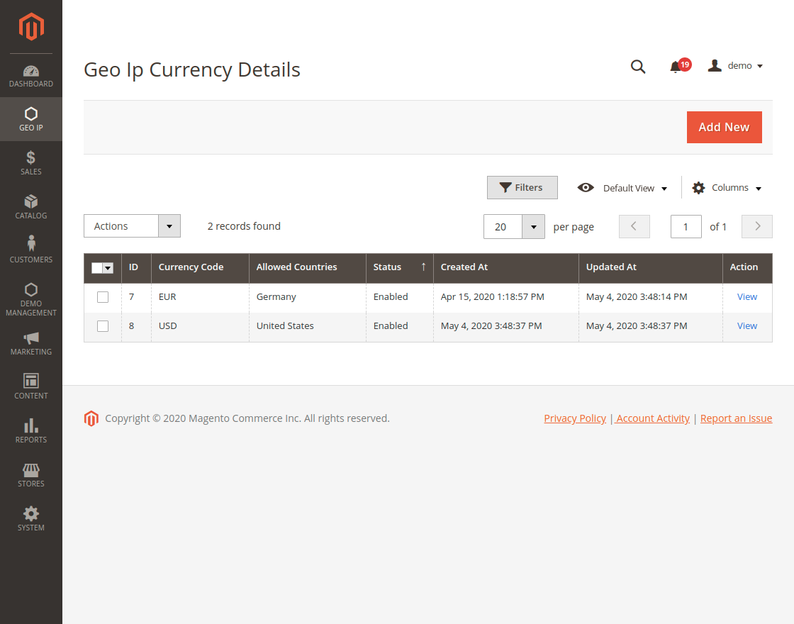 webkul_magento_2_GeoIP_extension_Geo_Ip_Currency_Details