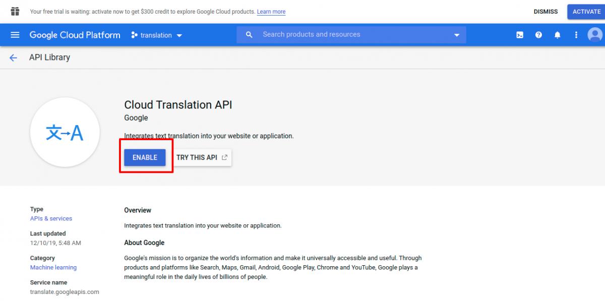 APIs_Services_translation_Google_Cloud_Platform