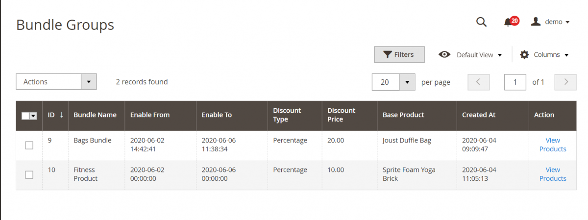 Magento 2 Bundle Product Discount_Bundled_groups