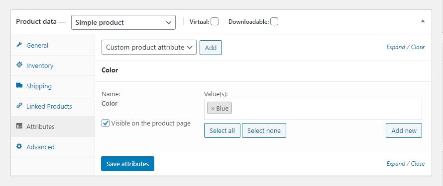 Webkul-B2B-Marketplace-Supplier-Add-Products-Attribute