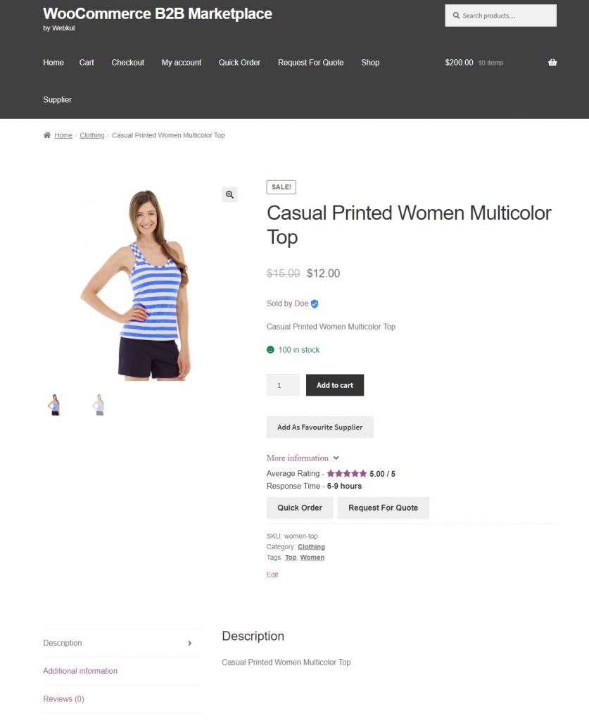 Webkul-B2B-Marketplace-Supplier-Proudct-Front-End