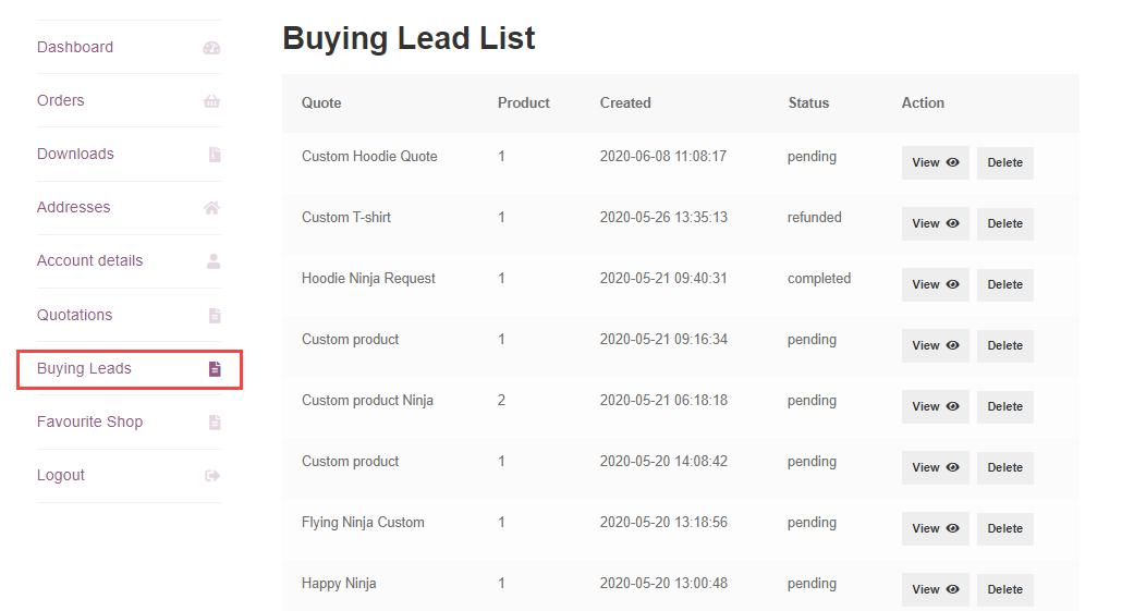Webkul-WooCommerce-B2B-Marketplace-Buying-Leads-Customer