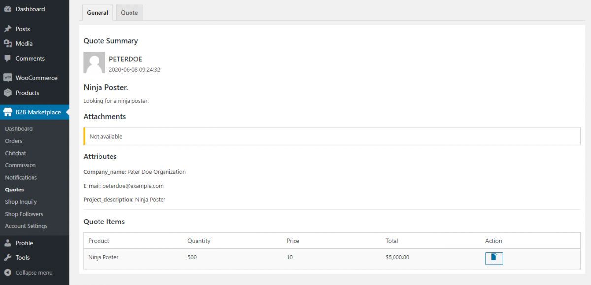 Webkul-WooCommerce-B2B-Marketplace-RFQ-Supplier-End-View-Specific
