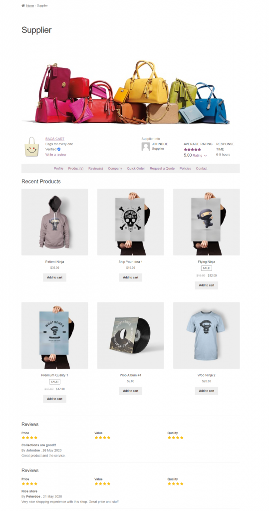 Webkul-WooCommerce-B2B-Marketplace-Supplier-Profile-Products