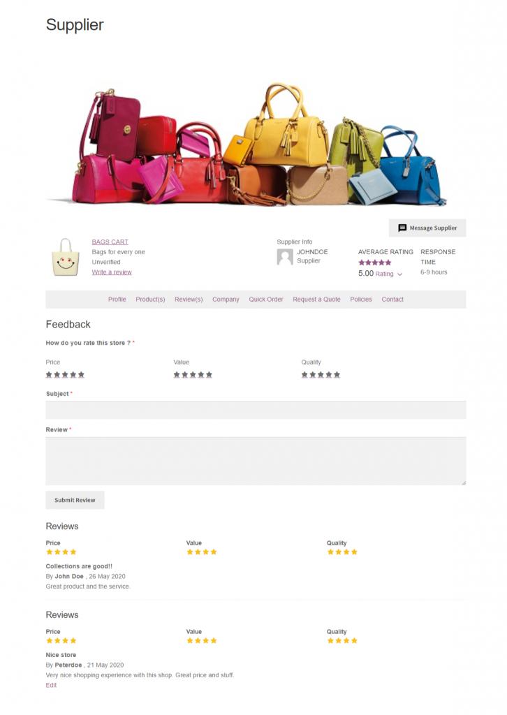Webkul-WooCommerce-B2B-Marketplace-Supplier-Reviews