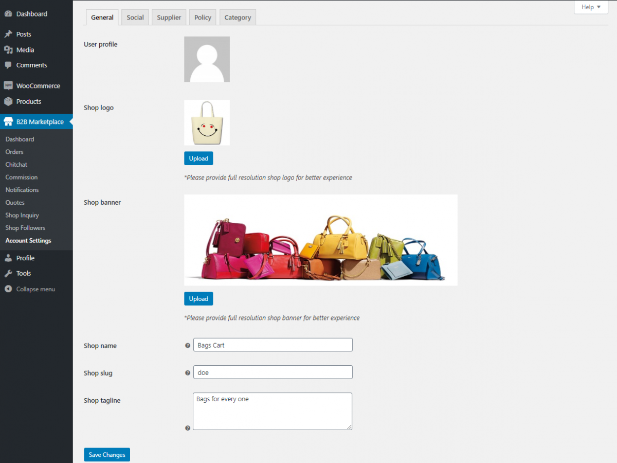 Webkul-WooCommerce-B2B-Marketplace-Supplier-config