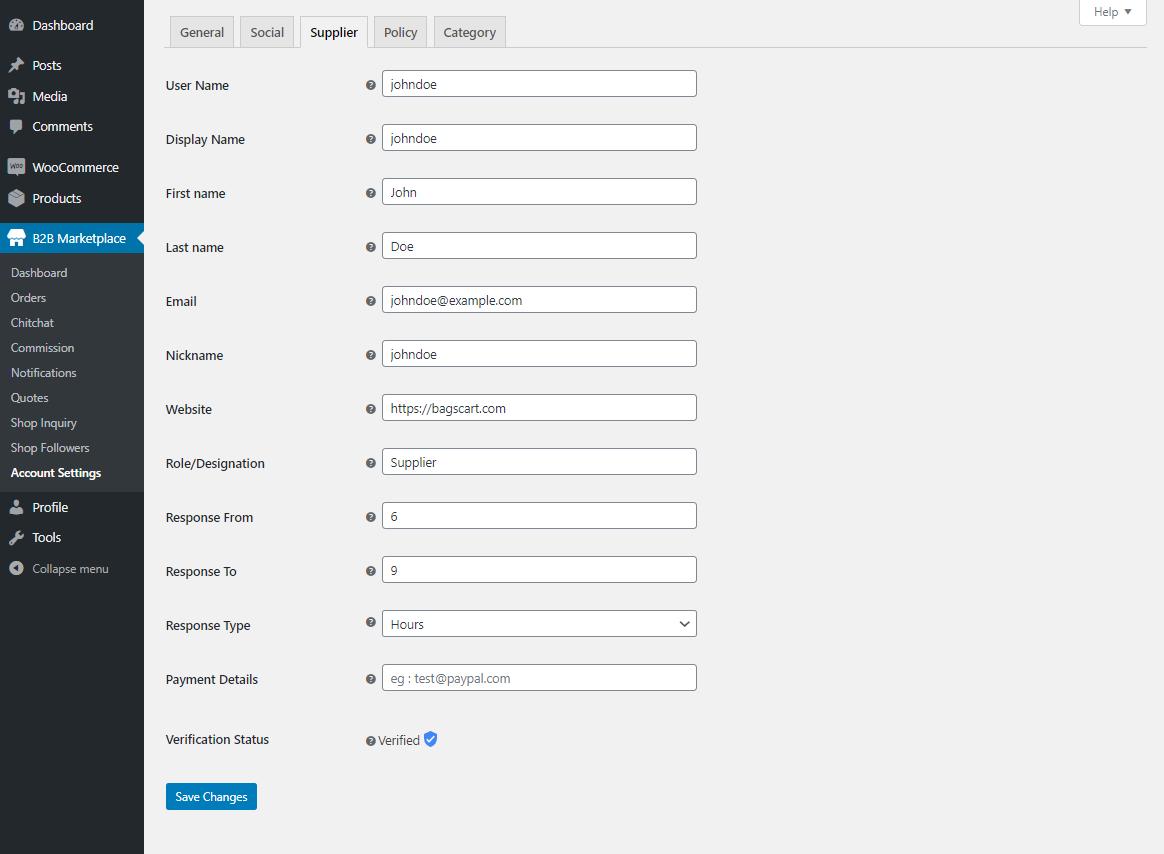 Webkul-WooCommerce-B2B-Marketplace-Supplier-config-settings