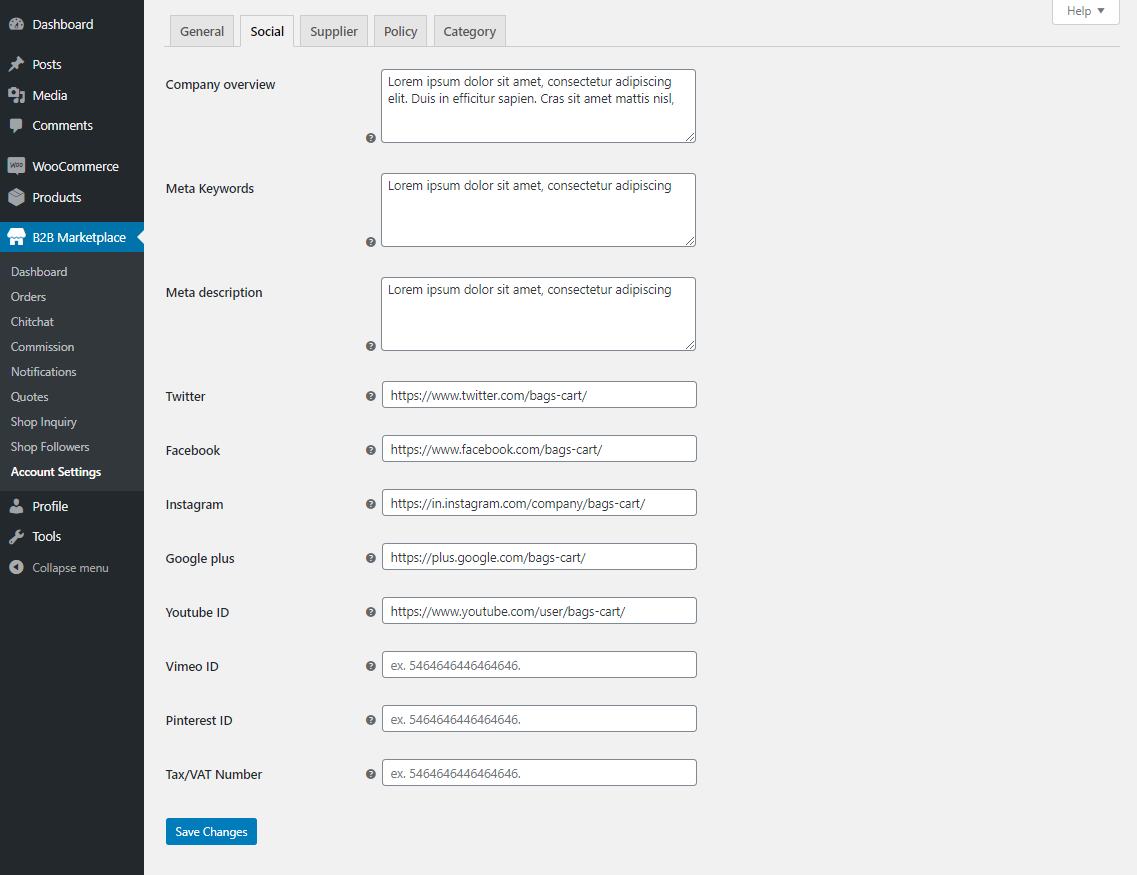 Webkul-WooCommerce-B2B-Marketplace-Supplier-config-social
