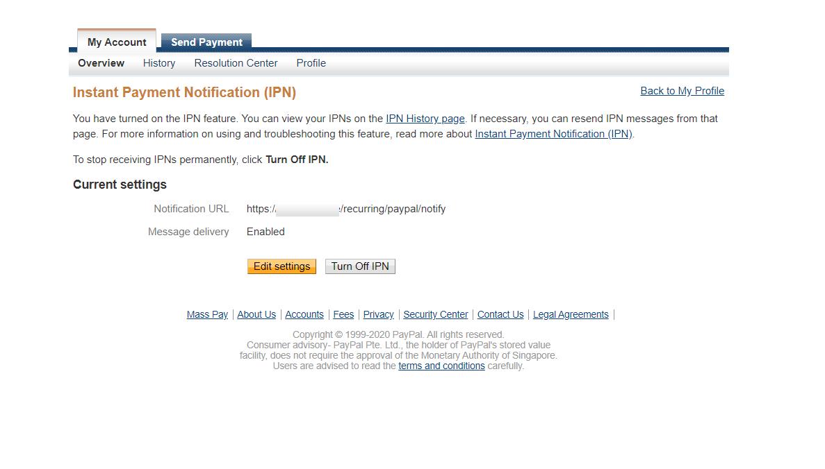 bagisto-laravel-ecommerce-multi-company-saas-subscription-IPN-settings-2