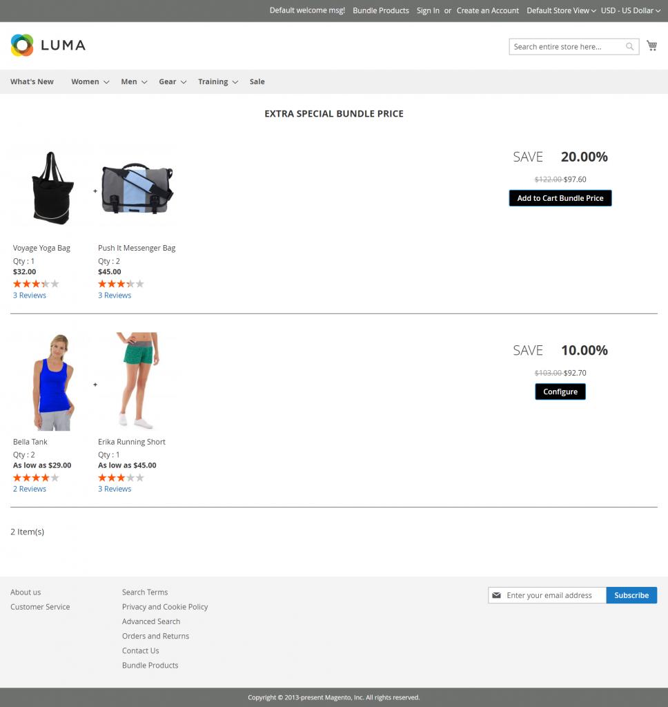 Magento 2 Bundle Product Discount_bundle_product_page