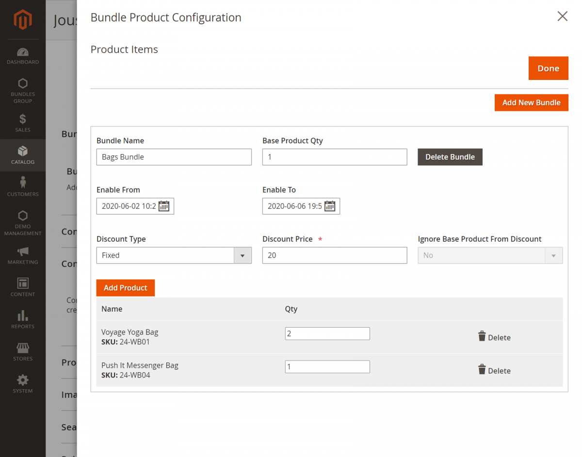 Magento 2 Bundle Product Discount_bundled_products