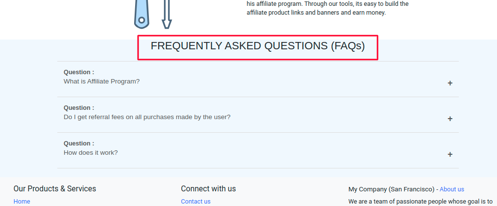 View FAQ at users end.