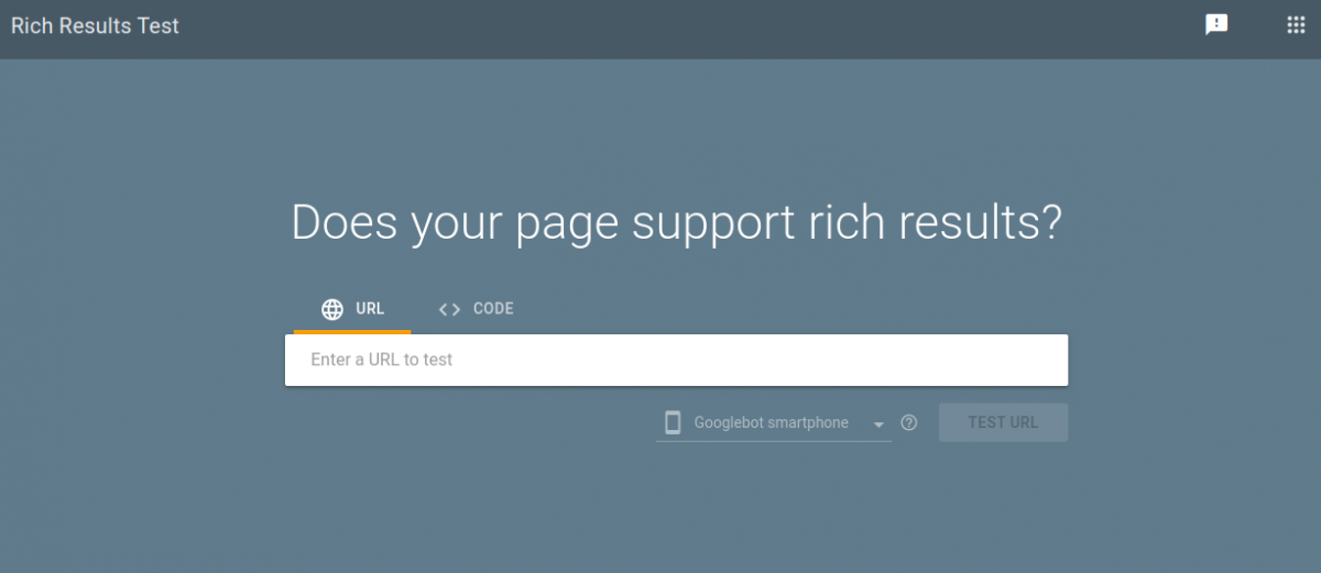 Link for verification of google rich snippet in Odoo