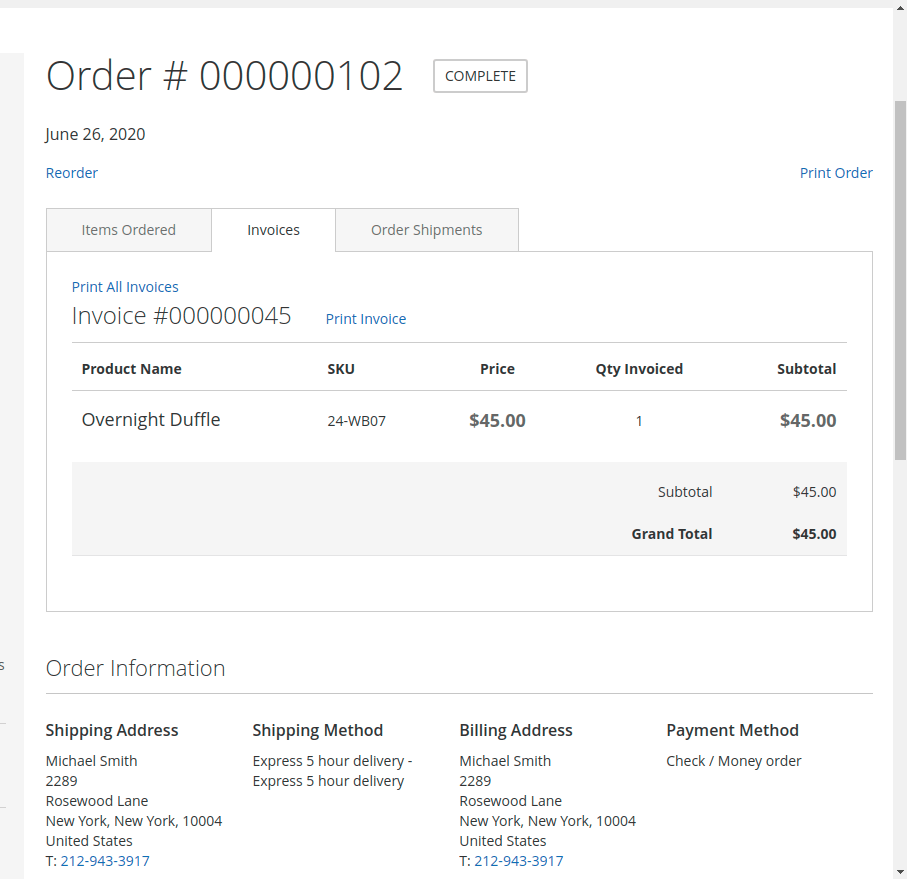 Marketplace Delivery Boy -Invoice