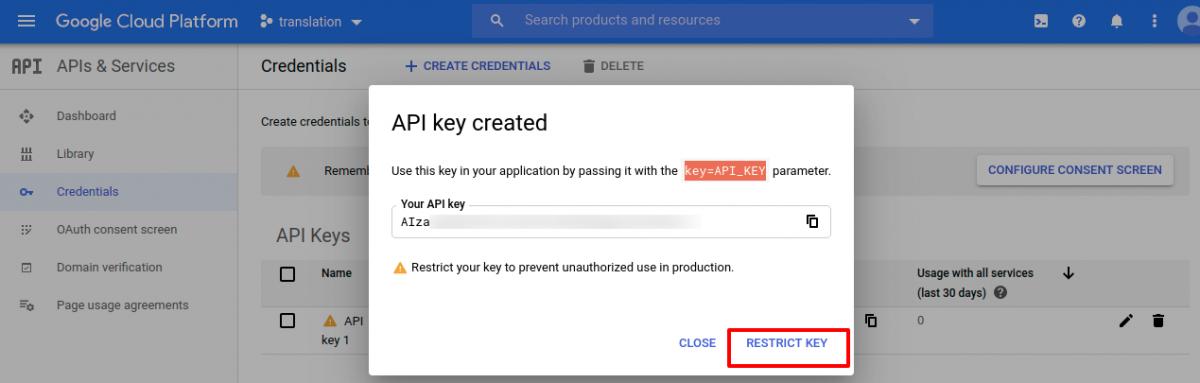 restric-key