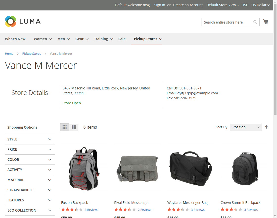 Magento 2 Store Pickup- store_details