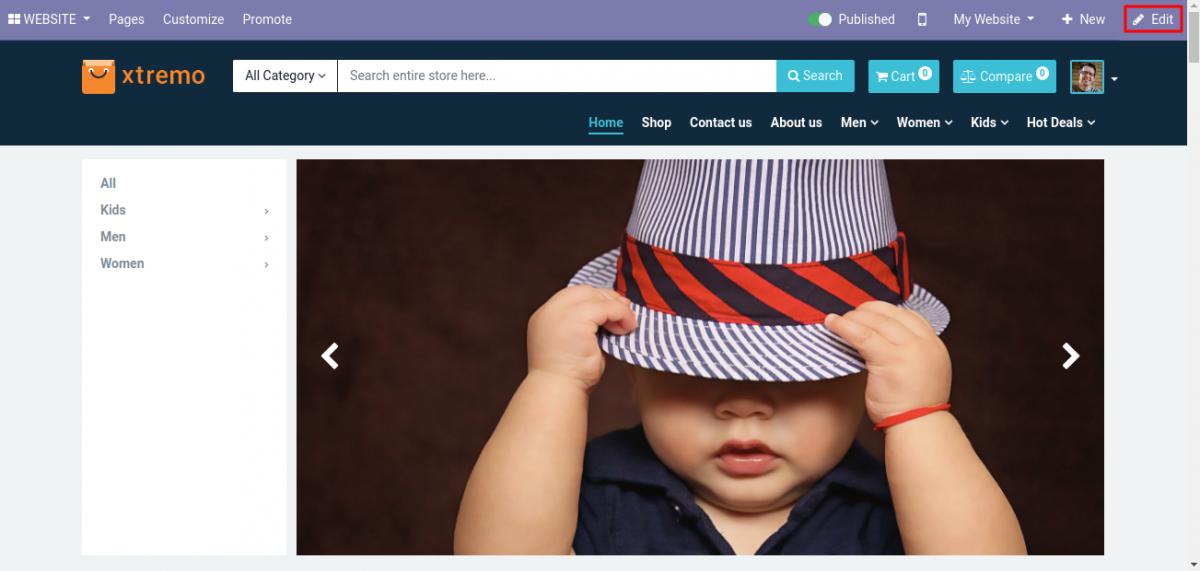 website-frontend-Odoo