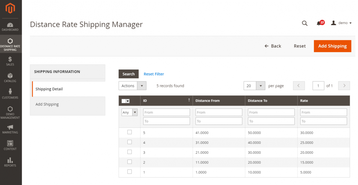 Distance-Rate-Shipping-Manager