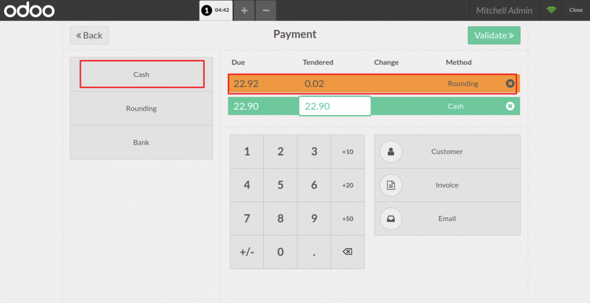 POS user can round off the amount automatically also.