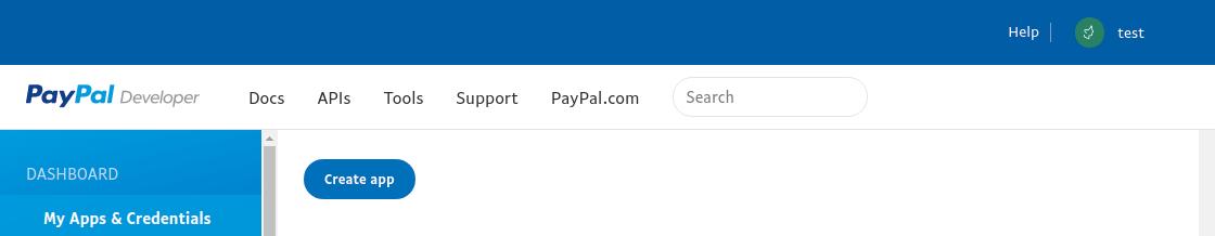 PayPal - sandbox_create_app