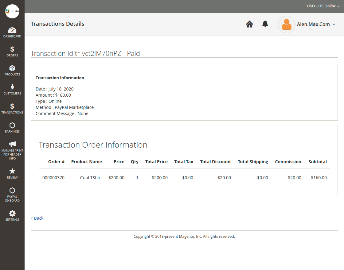 PayPal Commerce for Magento 2 seller_td