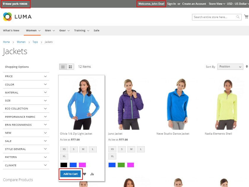 webkul-magento2-city-zone-area-based-delivery-customer-login-after