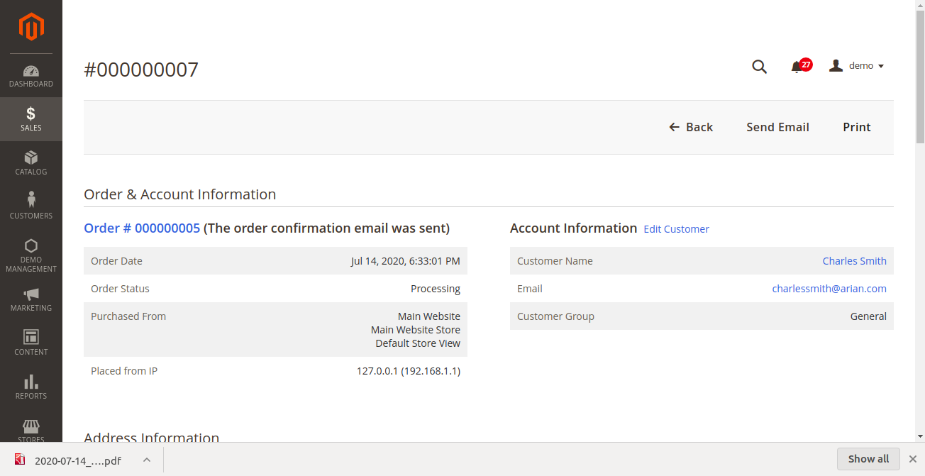 Magento 2 Invoice Pdf Template Pdf Customizer