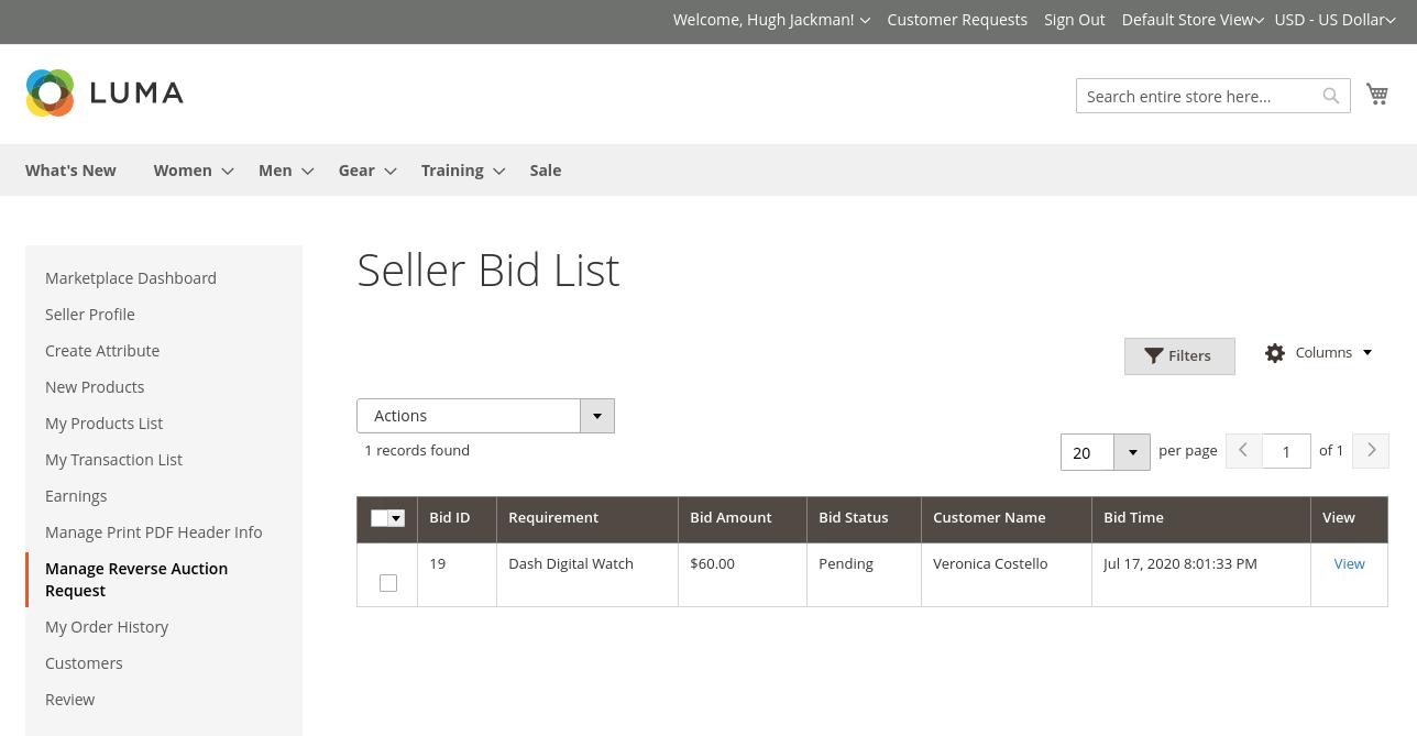 Magento 2 Marketplace Reverse Auction