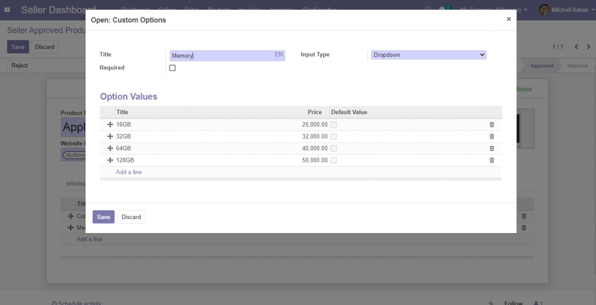 Create custom options for Odoo Marketplace