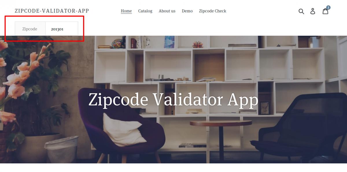 Zipcode header