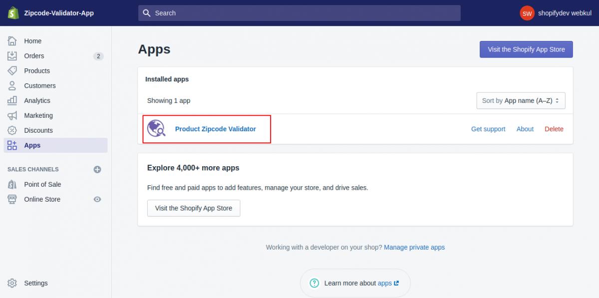 zipcode validator app