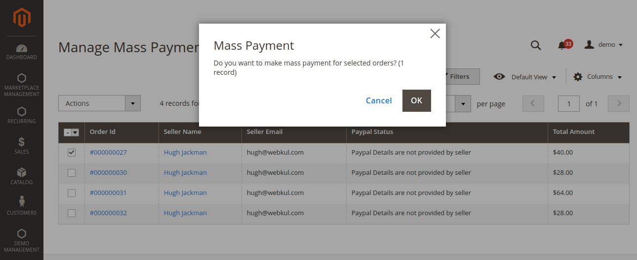 webkul-magento2-multi-vendor-recurring-payments-admin-end-confirm-mass-payment