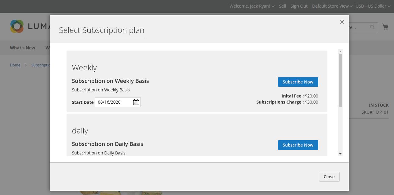 webkul-magento2-multi-vendor-recurring-payments-chose-subscription-plan