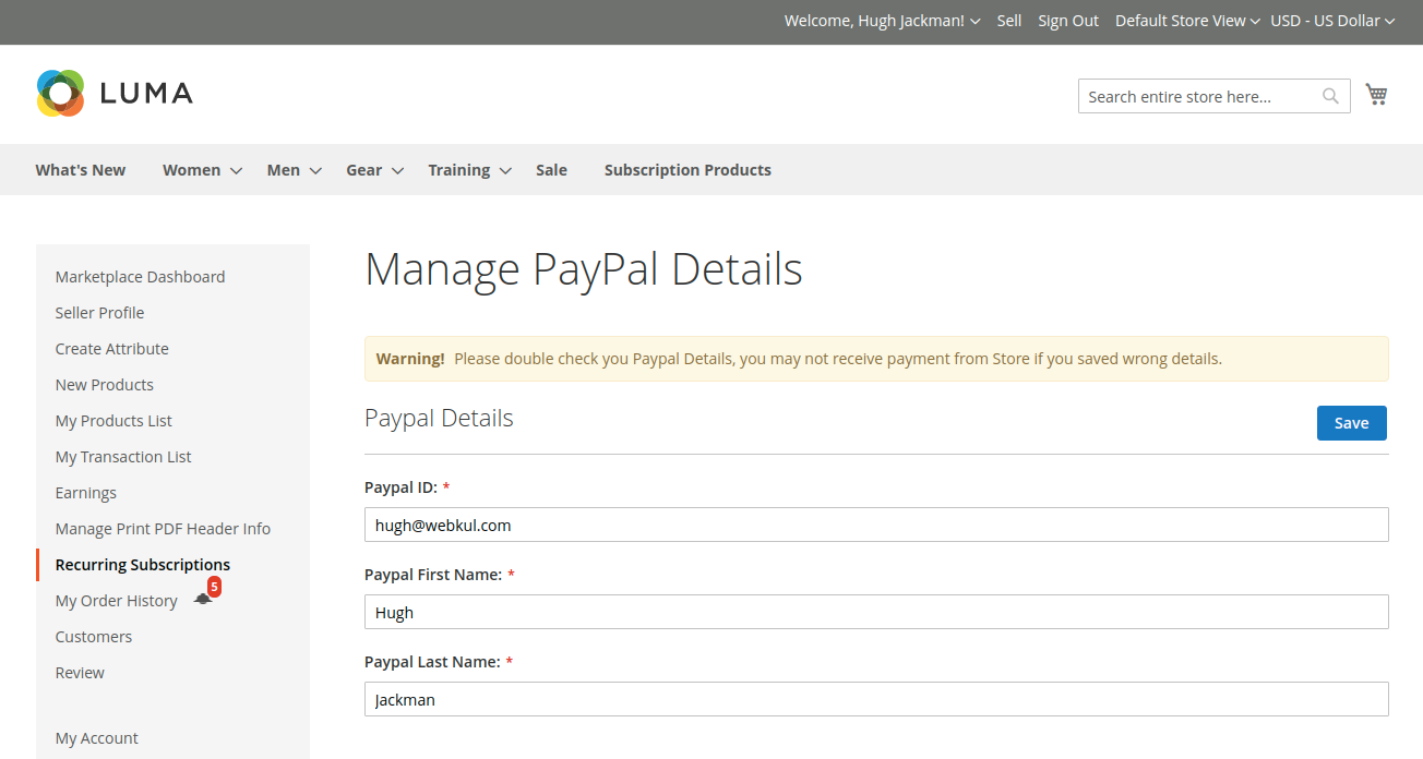 webkul-magento2-multi-vendor-recurring-payments-seller-end-manage-paypal-details-1