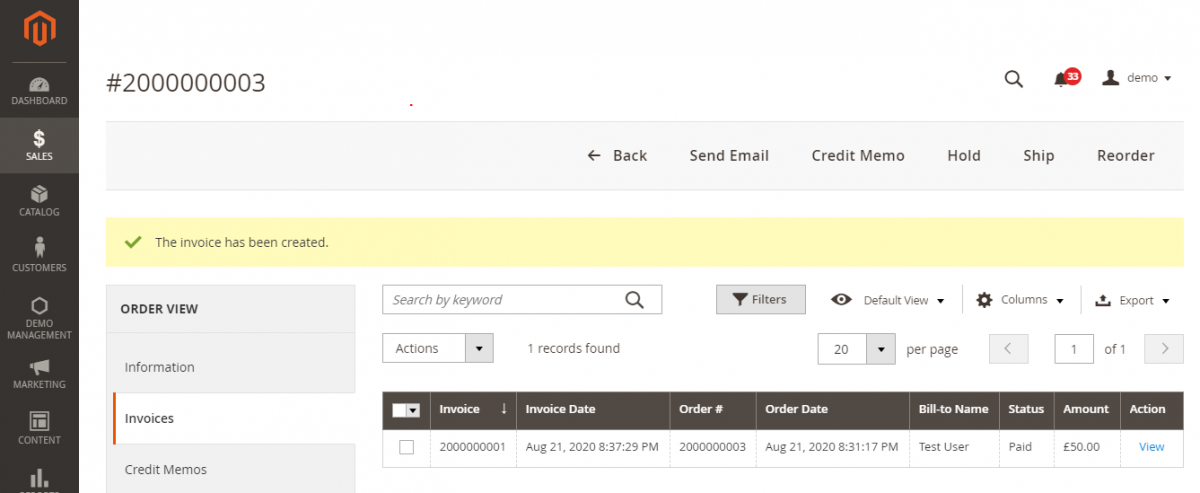 webkul-magento2-sage-pay-paymnet-gateway-admin-invoice-generated