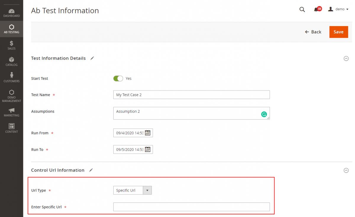 Ab-Test-Information-AB-Testing-Magento-Admin