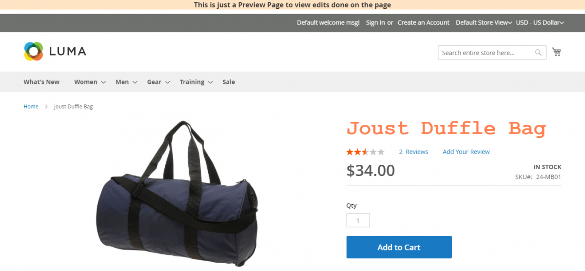 Magento 2 A/B Testing ExtensionJoust-Duffle-Bag-check-preview