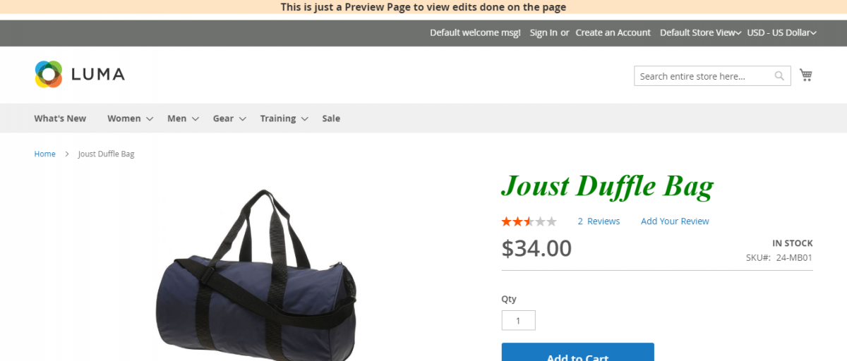 Magento 2 A/B Testing ExtensionJoust-Duffle-Bag-check-preview-for-italic