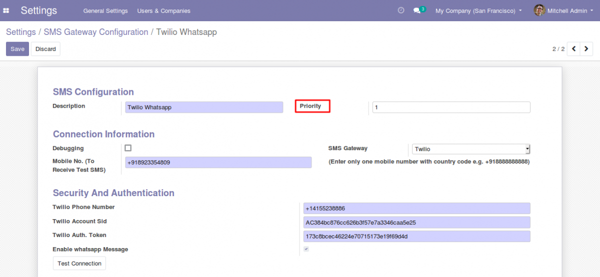 integrate Whatsapp With Odoo 3