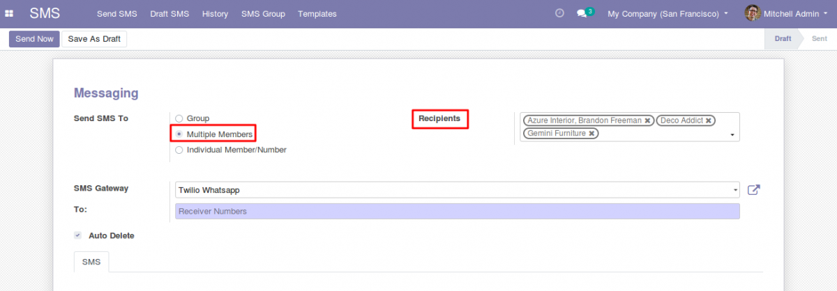 Send Whatsapp messages With Odoo 3