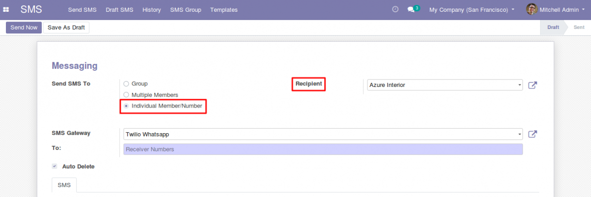 Send Whatsapp messages With Odoo 4