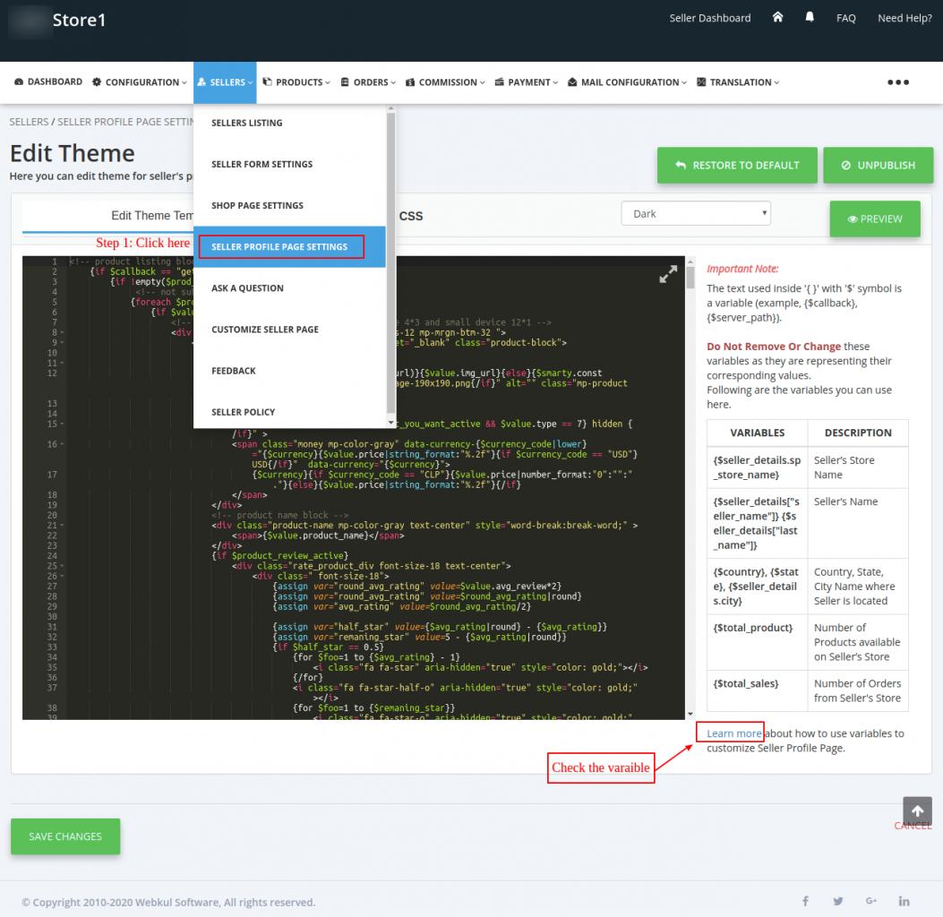Seller-Profile-Theme-edit-Admin