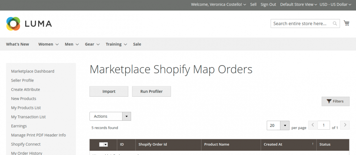 Magento 2 Marketplace Shopify Connector- import-shopify-orders-1