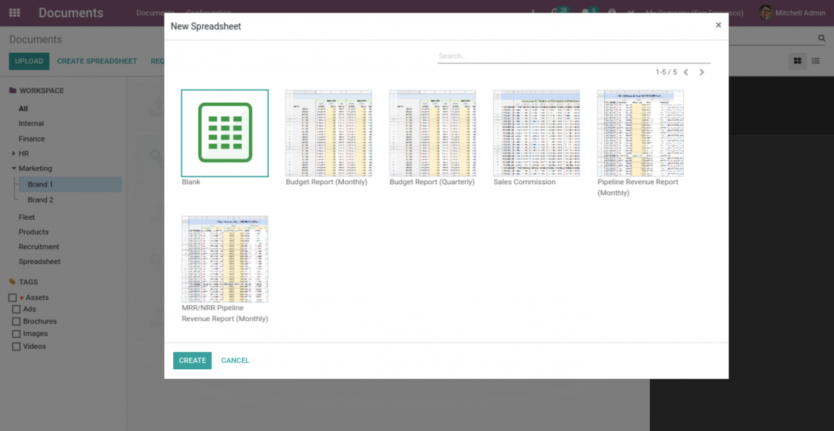 add excel in Odoo 14