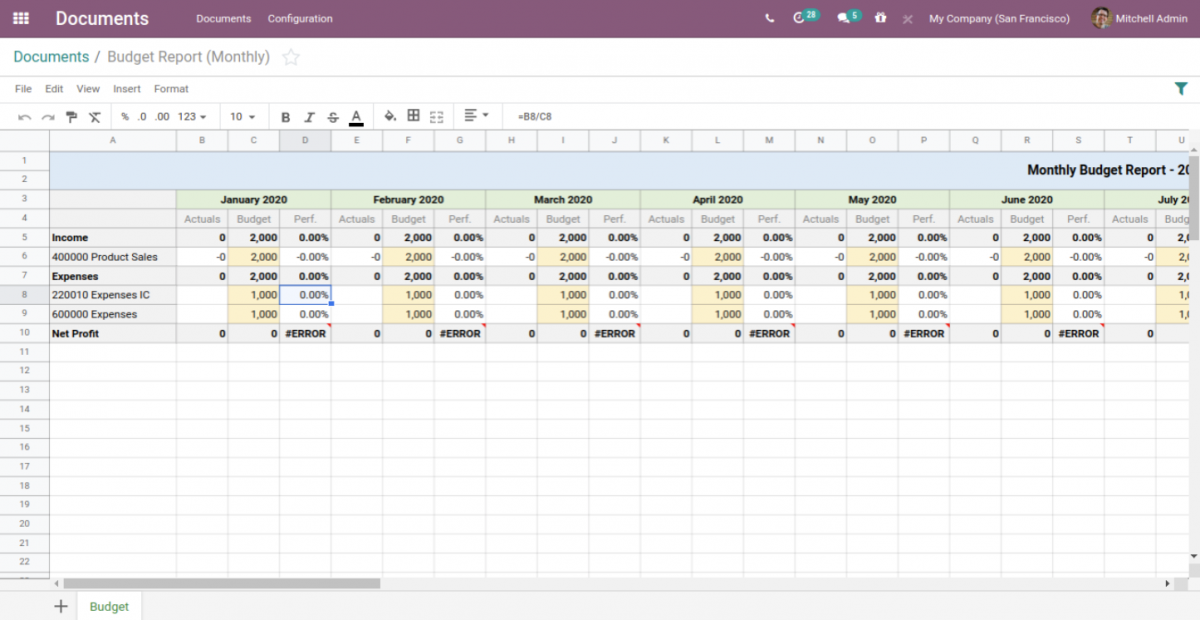 Excel in Odoo 14