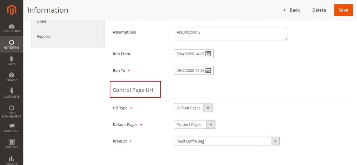 webkul-magento2-ab-testing-admin-conrol-page-url