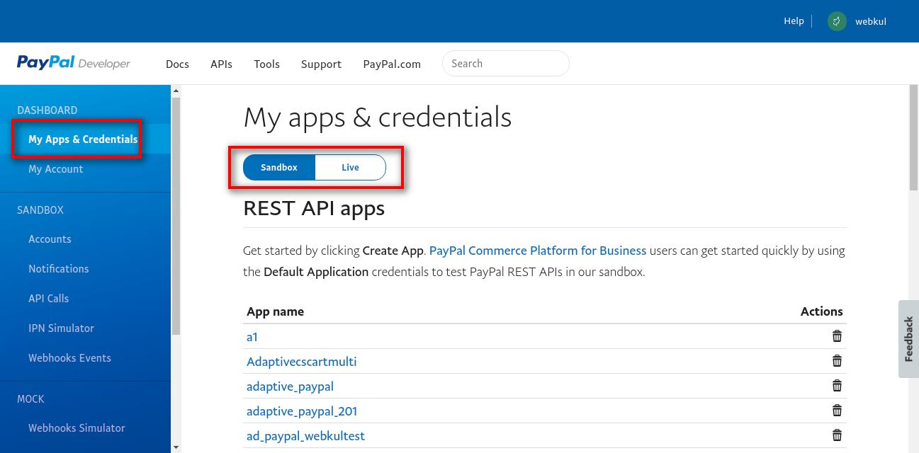 bigcommerce marketplace paypal credentials