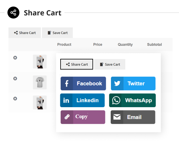 WooCommerce Save and Share Cart Plugin - 5
