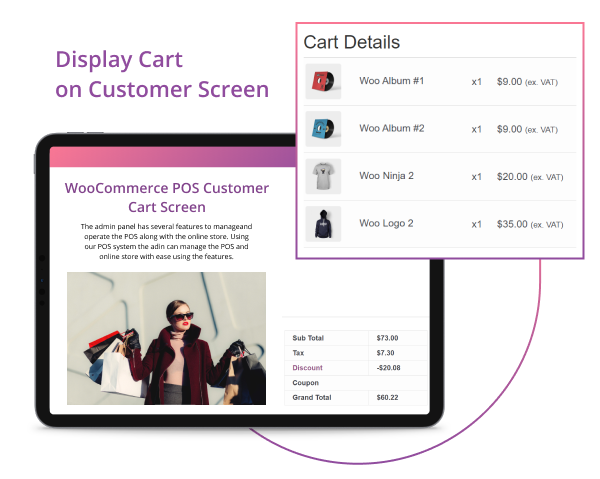 WooCommerce POS Customer Cart Screen - 7