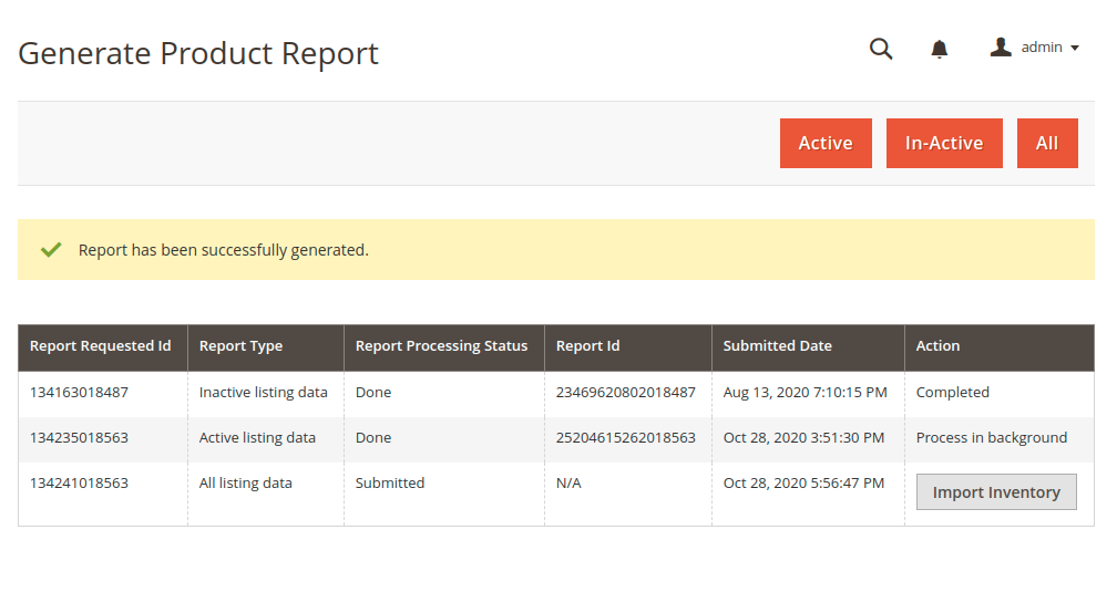 amazon-connector-Generate-Product-Report-1